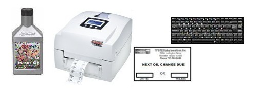 oil change printer with key board